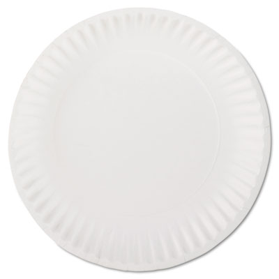 AJM Packaging Corporation White Paper Plates, 9""