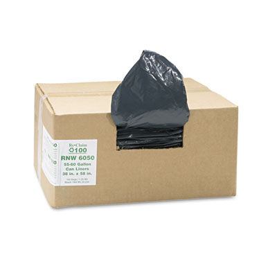 Earthsense Commercial Recycled Can Liners, 55-60
