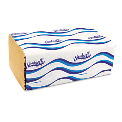 "Windsoft Embossed 1-Fold Paper Towels, 9.3"" x 10.5,"