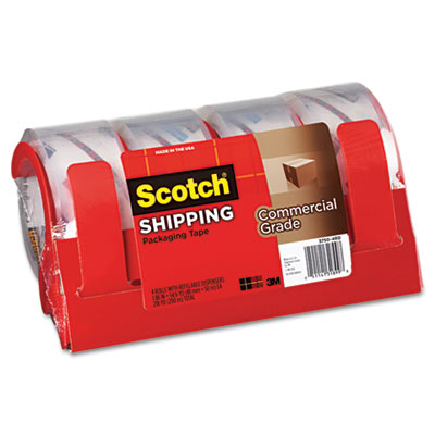 Scotch 3750 Commercial Grade Packaging Tape w/Dispenser,
