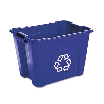 Rubbermaid Commercial Stacking Recycle Bin,