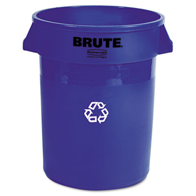 Rubbermaid Commercial Brute Recycling Container, Round,