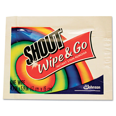 Shout Wipes Wipe & Go Instant Stain Remover, 4.7 x 5.9