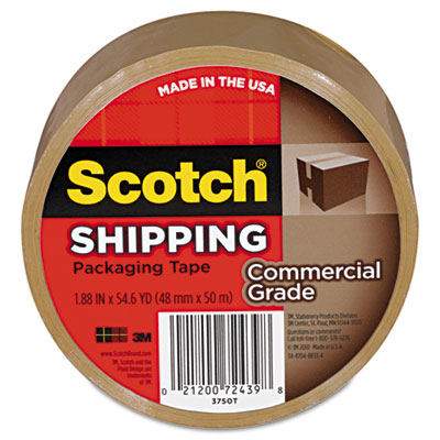 "Scotch 3750 Commercial Grade Packaging Tape, 1.88"" x 54.6"