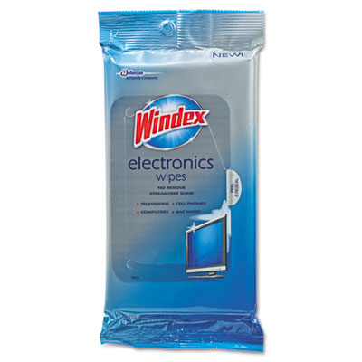 Windex Electronics Cleaner, 25 Wipes/Box
