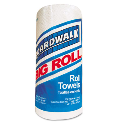 Boardwalk Perforated Roll Towels, White, 11 x 8 1/2,