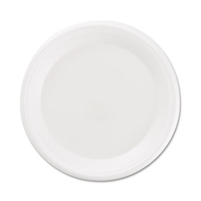 Boardwalk Non-Laminated Foam Plates, 9 Inches, White,