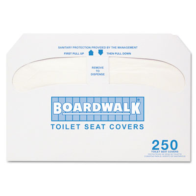 Boardwalk Premium Half-Fold Toilet Seat Covers