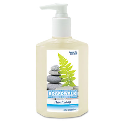 Boardwalk Liquid Hand Soap, Floral, 8 oz Pump Bottle