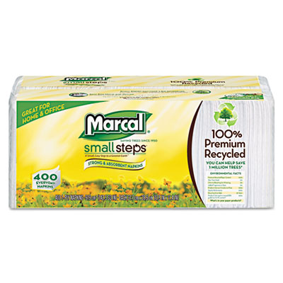 Marcal Small Steps Lunch Napkins, One-Ply, 12-1/2 x