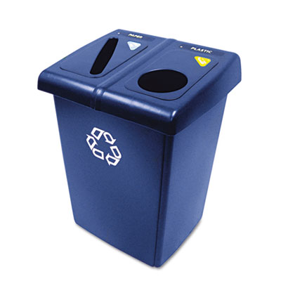 Rubbermaid Commercial Glutton Recycling Station,
