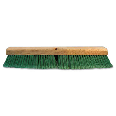 "Boardwalk Push Broom Head, 3"" Green Flagged Recycled PET"