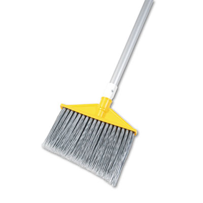 Rubbermaid Commercial Brute Angled Broom, Poly Bristle,
