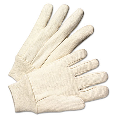 Anchor Brand Light-Duty Canvas Gloves, White