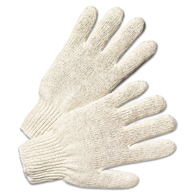 Anchor Brand String Knit Gloves, Natural White