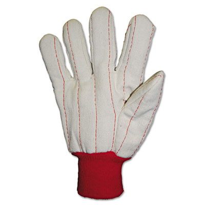 Anchor Brand Heavy Canvas Gloves, White/Red
