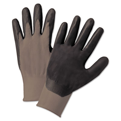 Anchor Brand Nitrile Coated Gloves, Gray/Dark Gray, Large
