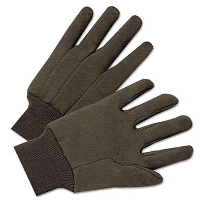 Anchor Brand Jersey General Purpose Gloves, Brown