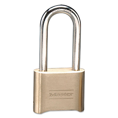 Master Lock Resettable Combination Padlock, Brass, 2