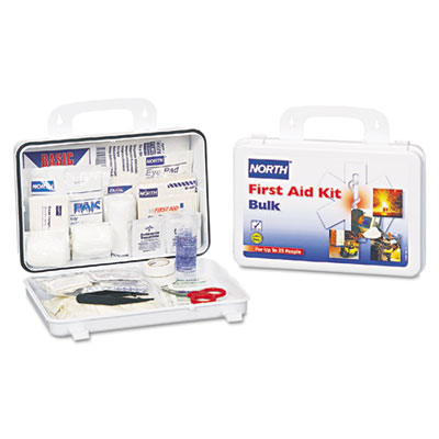 North Safety Bulk First Aid Kit, 85 Pieces, 25 Person