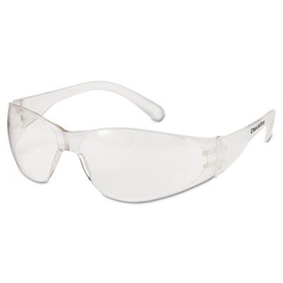 Crews Checklite Safety Glasses, Clear Frame, Clear