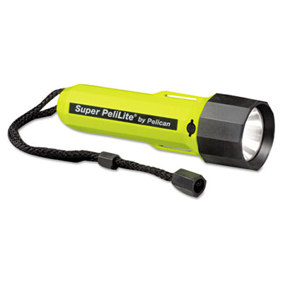 Pelican PeliLite 1800 Flashlight, On/Off, 2C, Yellow