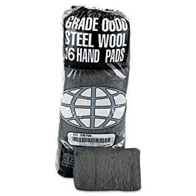 GMT Industrial-Quality Steel Wool Hand Pad, #0000 Super