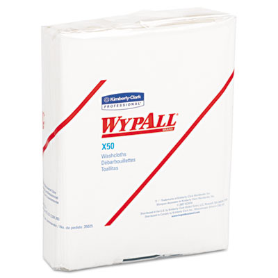 KIMBERLY-CLARK PROFESSIONAL* WYPALL X50 Wipers, 10 x 12