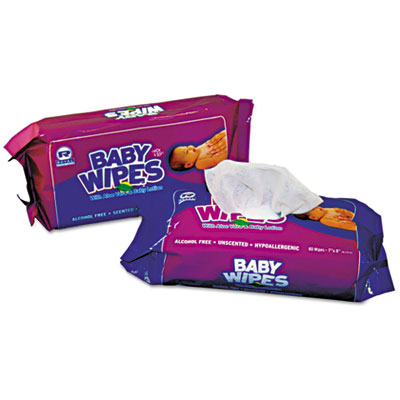 Royal Baby Wipes Refill Pack, Unscented, White, 80/Pack