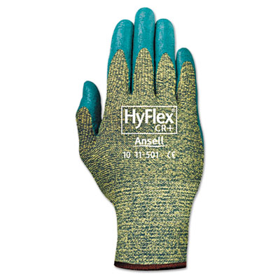 AnsellPro HyFlex 501 Medium-Duty Gloves, Size 8,