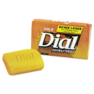 Dial Antibacterial Deodorant Bar Soap, Unwrapped, White,