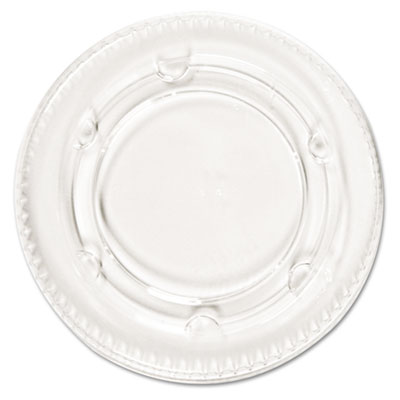 Boardwalk Portion Cup Lids, Fits 1.5-2.5oz Cups, Clear