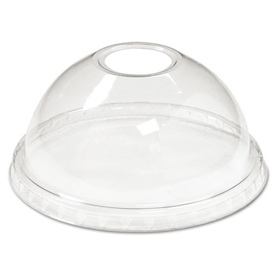 Boardwalk Cold Cup Dome Lids, Fits 12-24oz Cups, Clear