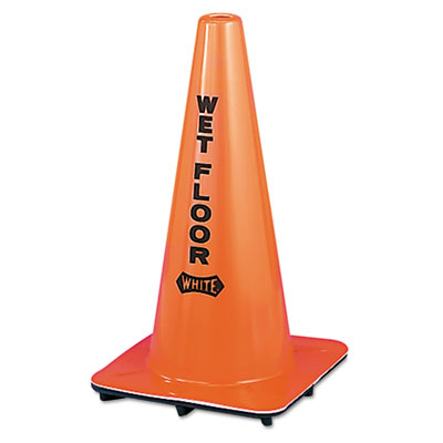 Impact Wet Floor Cone, Vinyl, 10-3/4 x 10-3/4 x 18, Orange