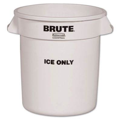 Rubbermaid Commercial Brute Ice-Only Container, 10gal,