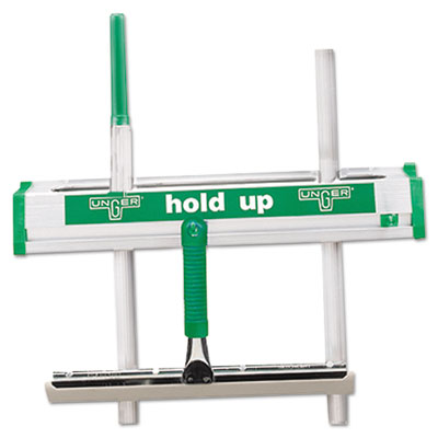 "Unger Hold Up Aluminum Tool Rack, 18"", Aluminum/Green"