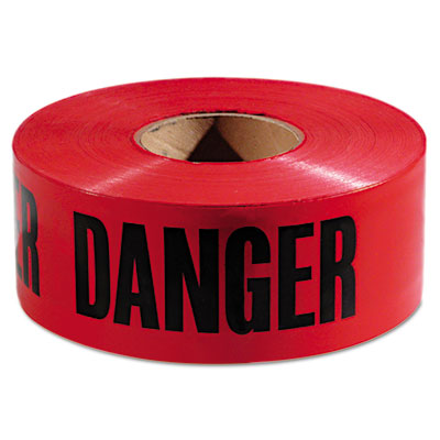 Empire Danger Barricade Tape, 3 in x 1000 ft
