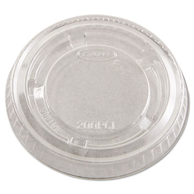 Dart Portion Cup Lids, Plastic, Clear