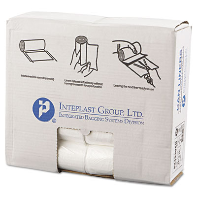Inteplast Group High-Density Can Liner, 24 x 33,