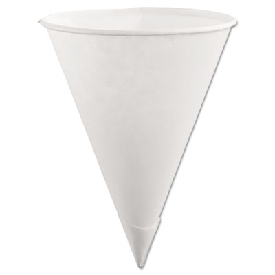 Rubbermaid Paper Cone Cups, 6oz, White