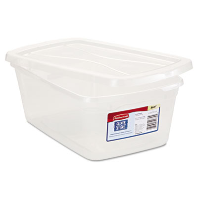 Rubbermaid Clever Store Snap-Lid Container, 1.625gal,