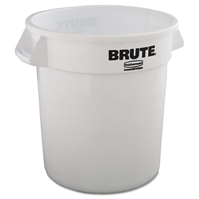 Rubbermaid Commercial Round Brute Container, Plastic, 10