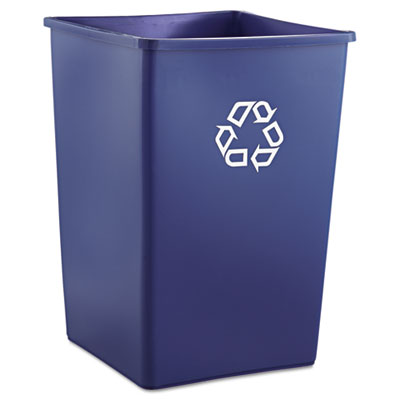Rubbermaid Commercial Recycling Container, Square,