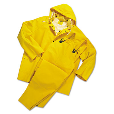 Anchor Brand Rainsuit, PVC/Polyester, Yellow, Large