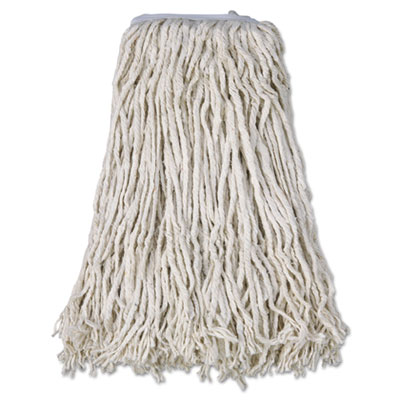 Boardwalk Mop Head, Cotton, Cut-End, White, 4-Ply, #32