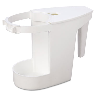 Impact Toilet Caddy & Brush, White, Caddy: 8-In Length x