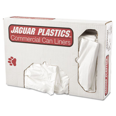 Jaguar Plastics Low-Density Can Liner, 33 x 39,