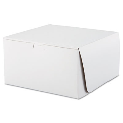 SCT Tuck-Top Bakery Boxes, 10w x 10d x 5 1/2h, White