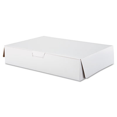 SCT Tuck-Top Bakery Boxes, 19w x 14d x 4h, White