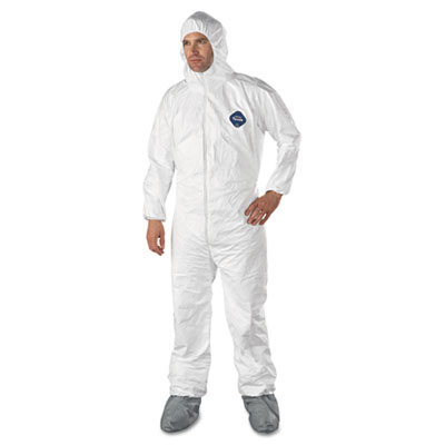 DuPont Tyvek Elastic-Cuff Hooded Coveralls With